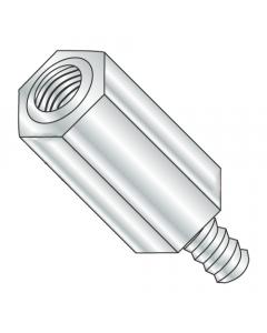 "5/16"" OD Hex Standoffs (Male-Female) / 6-32 x 1/4"" / Aluminum / Outer Diameter: 5/16"" / Thread Size: 6-32 / Length: 1/4"" (Quantity: 1,000 pcs)"
