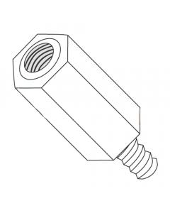 "1/4"" OD Hex Standoffs (Male-Female) / 4-40 x 2"" / Nylon / Outer Diameter: 1/4"" / Thread Size: 4-40 / Length: 2"" (Quantity: 1,000 pcs)"