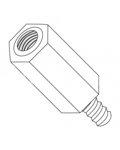 "1/4"" OD Hex Standoffs (Male-Female) / 6-32 x 2"" / Nylon / Outer Diameter: 1/4"" / Thread Size: 6-32 / Length: 2"" (Quantity: 1,000 pcs)"