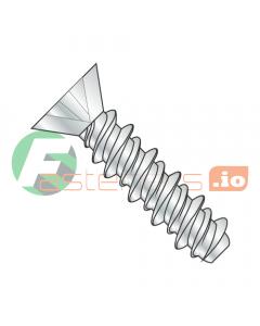 "#2 x 1/4"" High Low Style Self Tapping Screws / Phillips / Flat Head / Steel / Zinc (Quantity: 10,000 pcs)"