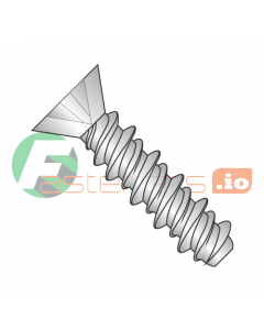"""#2 x 3/8"""" High Low Style Self Tapping Screws / Phillips / Flat Head / 18-8 Stainless Steel (Quantity: 5,000 pcs)"""