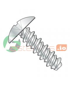 "#8 (#6 Head) x 1/2"" High Low Style Self Tapping Screws / Phillips / Truss Head / Steel / Zinc (Quantity: 10,000 pcs)"