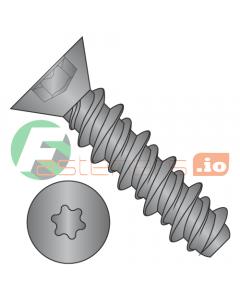 """#4 x 3/8"""" High Low Style Self Tapping Screws / Six-Lobe (Torx) / Flat Head / Steel / Black Oxide (Quantity: 10,000 pcs)"""