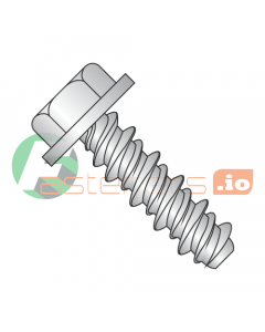 """#4 (#3 Head) x 1/2"""" High Low Style Self Tapping Screws / Unslotted / Hex Washer Head / 18-8 Stainless Steel (Quantity: 5,000 pcs)"""