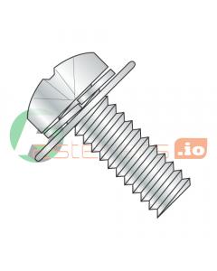 M4-0.7 x 8 mm SEMS Screws / Double Washer / Phillips / Pan JIS-B1-188 Head / Steel / Zinc / Split Lockwasher & Flat Washer / 8mm Flat Washer OD (Quantity: 3,000 pcs)