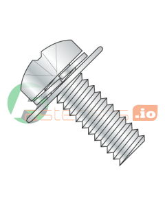 M4-0.7 x 10 mm SEMS Screws / Double Washer / Phillips / Pan JIS-B1-188 Head / Steel / Zinc / Split Lockwasher & Flat Washer / 8mm Flat Washer OD (Quantity: 3,000 pcs)