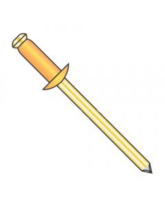"""1/8"""" x .18""""-.25"""" (#44) Standard Blind Rivets / Copper Body / Brass Mandrel / Barrel Length: .400"""" (Quantity: 10,000 pcs)"""