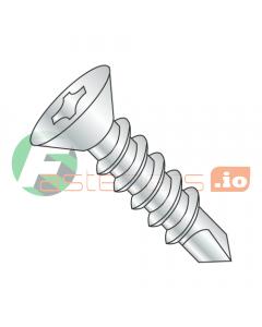 """#4 x 1/2"""" Self-Drilling Screws / Phillips / Flat Head / Steel / Zinc / #2 Drill Point (Quantity: 10,000 pcs)"""