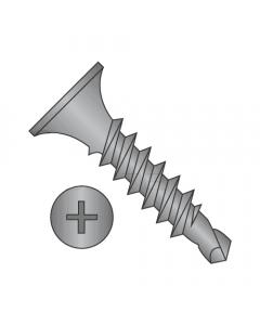 "#6 x 1 7/8"" Self-Drilling Screws / Phillips / Bugle Head / Steel / Phosphate Gray / #2 Point (Quantity: 4000 pcs)"