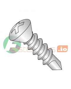 """#6 x 1/2"""" Self-Drilling Screws / Phillips / Oval Head / 18-8 Stainless Steel / #2 Drill Point (Quantity: 5,000 pcs)"""