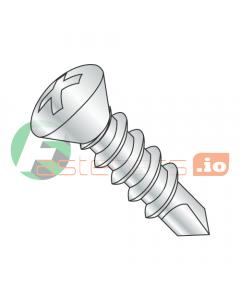 """#6 x 1/2"""" Self-Drilling Screws / Phillips / Oval Head / Steel / Zinc / #2 Drill Point (Quantity: 10,000 pcs)"""