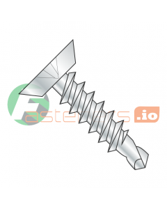 """#4 x 3/4"""" Self-Drilling Screws / Phillips / Flat Undercut Head / Steel / Zinc / #2 Drill Point (Quantity: 9,000 pcs)"""