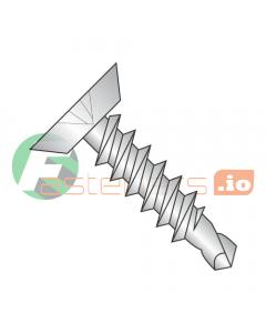 "#6 x 3/8"" Self-Drilling Screws / Phillips / Flat Undercut Head / 410 Stainless Steel / #2 Drill Point (Quantity: 5,000 pcs)"