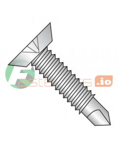 """12-24 x 11/16"""" Self-Drilling Screws / Phillips / Flat Undercut Head / 18-8 Stainless Steel / #3 Drill Point / Machine Screw Thread (Quantity: 1,250 pcs)"""