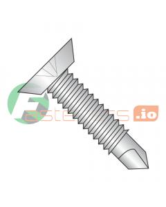 """12-24 x 11/16"""" Self-Drilling Screws / Phillips / Flat Undercut Head / 410 Stainless Steel / #3 Drill Point / Machine Screw Thread (Quantity: 2,500 pcs)"""