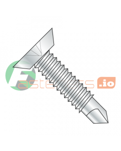 """12-24 x 11/16"""" Self-Drilling Screws / Phillips / Flat Undercut Head / Steel / Zinc / #3 Drill Point / Machine Screw Thread (Quantity: 5,000 pcs)"""
