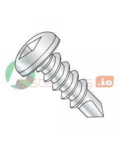 """#6 x 3/8"""" Self-Drilling Screws / Square / Pan Head / Steel / Zinc / #2 Drill Point (Quantity: 10,000 pcs)"""