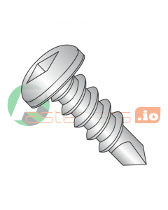 """#6 x 3/8"""" Self-Drilling Screws / Square / Pan Head / 410 Stainless Steel / #2 Drill Point (Quantity: 3,000 pcs)"""