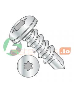 """#6 x 1"""" Self-Drilling Screws / Six-Lobe (Torx) / Pan Head / Steel / Zinc / #2 Drill Point (Quantity: 10,000 pcs)"""