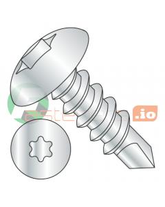 """#14 x 1"""" Self-Drilling Screws / Six-Lobe (Torx) / Truss Head / Steel / Zinc / #3 Drill Point (Quantity: 2,000 pcs)"""