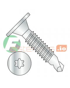 """10-24 x 1 1/4"""" Self-Drilling Screws / Six-Lobe (Torx) / Wafer Head / Steel / Zinc / #3 Drill Point / Machine Screw Thread (Quantity: 3,000 pcs)"""