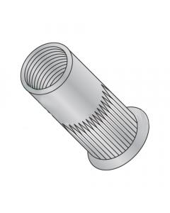 10-24 (Max Grip .130) Small Flange Ribbed Blind Threaded Insert / Aluminum (Quantity: 1,000 pcs)
