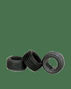 "Socket Jam Screw, 8-32 x 7/64"", Alloy Steel, Black Oxide, Hex Socket (Quantity: 100)"