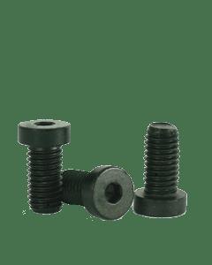 "Socket Low Head Cap Screw, 1/4-28 x 7/16"", Alloy Steel, Black Oxide, Hex Socket (Quantity: 100)"