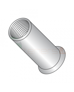 10-32 (Max Grip .130) Small Flange Threaded Inserts / 303 Stainless Steel / Non-Ribbed (Quantity: 1,000 pcs)