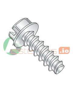 "#6 x 3/8"" Thread Forming Screws 48-2 Trilobe / Slotted / Hex Washer Head / Steel / Zinc (Quantity: 10,000 pcs)"