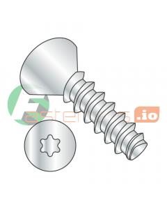 """#2 x 1/4"""" Thread Forming Screws 48-2 Trilobe / Six-Lobe (Torx) / Flat Head / Steel / Zinc (Quantity: 10,000 pcs)"""