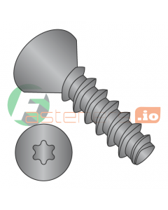 """#2 x 1/4"""" Thread Forming Screws 48-2 Trilobe / Six-Lobe (Torx) / Flat Head / Steel / Black Oxide (Quantity: 10,000 pcs)"""