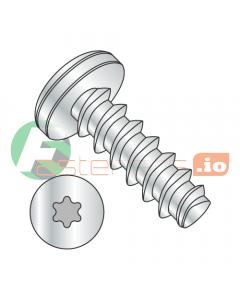 """#0 x 3/8"""" Thread Forming Screws 48-2 Trilobe / Six-Lobe (Torx) / Pan Head / Steel / Zinc (Quantity: 10,000 pcs)"""