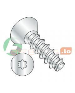 """#2 x 3/16"""" Thread Forming Screws 48-2 Trilobe / Six-Lobe (Torx) / Flat Undercut Head / Steel / Zinc (Quantity: 6,000 pcs)"""