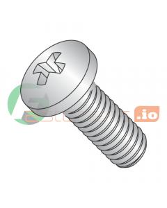 M1.6-0.35 x 12 mm Machine Screws / Phillips / Pan Head / 18-8 Stainless Steel / DIN7985A (Quantity: 6,000 pcs)