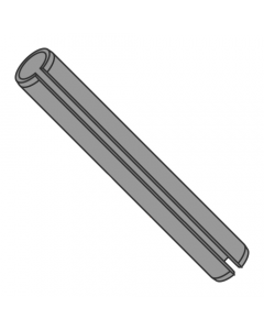 M8 x 28mm Roll (Spring) Pins / Steel / Plain (Thermal Black) / ISO 8752 (Quantity: 1,000 pcs)