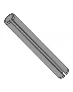 M8 x 100mm Roll (Spring) Pins / Steel / Plain (Thermal Black) / ISO 8752 (Quantity: 250 pcs)