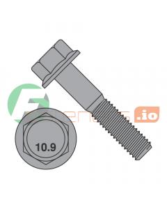 M8-1.25 x 45 mm Hex Flange Bolts / Non-Serrated / Grade 10.9 / Black Phosphate / DIN6921 (Quantity: 500 pcs)