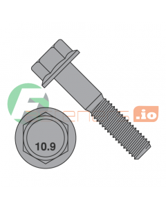 M10-1.5 x 20 mm Hex Flange Bolts / Non-Serrated / Grade 10.9 / Black Phosphate / DIN6921 (Quantity: 500 pcs)
