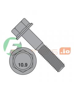 M10-1.5 x 30 mm Hex Flange Screws / Grade 10.9 / Plain / DIN6921 / Non-Serrated / DIN6921 (Quantity: 400 pcs)