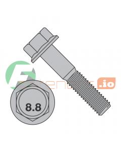 M8-1.25 x 45 mm Hex Flange Bolts / Non-Serrated / Grade 8.8 / Plain / DIN6921 (Quantity: 500 pcs)