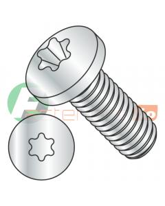 M5-0.8 x 16 mm Machine Screws / Six-Lobe (Torx) / Pan Head / Steel / Class 4.8 / Zinc / ISO7045 / ISO7045 (Quantity: 1,000 pcs)