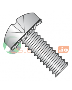 M4-0.7 x 12 mm SEMS Screws / External Tooth Washer / Phillips / Pan Head / Stainless Steel / ISO7045 / Screw: 18-8 Stainless, Washer: 410 Stainless (Quantity: 1,500 pcs)