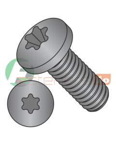 M5-0.8 x 16 mm Machine Screws / Six-Lobe (Torx) / Pan Head / Steel / Black Oxide / ISO7045 (Quantity: 1,000 pcs)