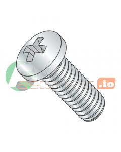 M6-1.0 x 8 mm Machine Screws / Phillips / Pan Head / Steel / Class 4.8 / Zinc / JIS-B1111 / JIS-B1111 (Quantity: 1,200 pcs)