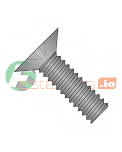 "0-80 x 1/8"" Machine Screws / Phillips / Flat 100 Head / 18-8 Stainless Steel / Black Oxide (Quantity: 5,000 pcs)"