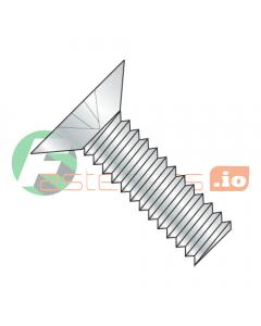"""3/8-16 x 1 1/4"""" Machine Screws / Phillips / Flat 100 Head / Steel / Zinc (Quantity: 1,000 pcs)"""