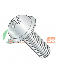 "8-32 x 1/2"" Machine Screws / Phillips / Round Washer Head / Steel / Zinc (Quantity: 10,000 pcs)"