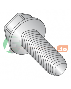 M4-0.7 x 10 mm Full Trilobe Thread Forming Screws / Unslotted / Hex Washer Head / 18-8 Stainless Steel / DIN7500D / DIN7500D (Quantity: 4,000 pcs)