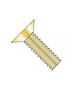 """MS24693-S55 / 8-32 x 1 3/16"""" Mil-Spec Machine Screws / Phillips / Flat 100 / Steel / Cad Yellow (Quantity: 2,000 pcs)"""